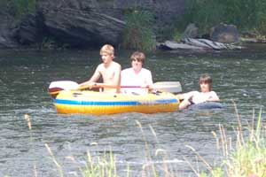 Rafters on Pine Creek